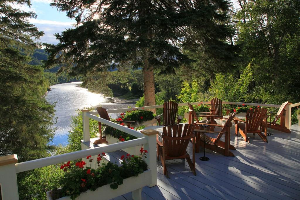 Salmon Lodge terrace
