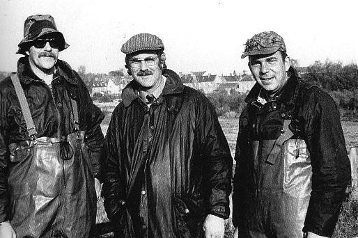 Ronald Fenger aus Holland begleitete Jim Hardy und mich an den River Tweed.